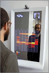 Semi-Transparent Mirrors For Visually Dynamic Hospitality Displays