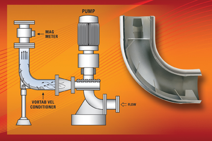 Vortab Elbow Flow Conditioner Removes Swirl For Accurate