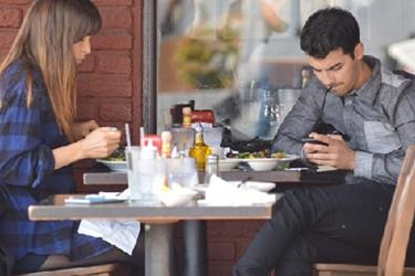Social Media At Restaurant
