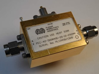 500 MHz – 40 GHz Ultra-Wideband Low Noise Amplifier: Model PEC-42-500M40G-20-12-292MM