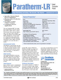 Datasheet: Paratherm LR™ Low-Range Heat Transfer Fluid