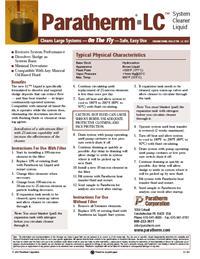 Datasheet: Paratherm LC™ System-Cleaner Liquid