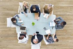 Aerial View of Business Meeting