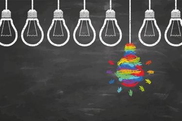 Rainbow Light Bulb Idea