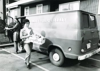 The Burnaby Public Library used its bookmobile to deliver books to residents from 1956 to 1971. (Photo courtesy of Burnaby Now.)