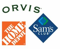 Home Depot, Sam's Club, Orvis