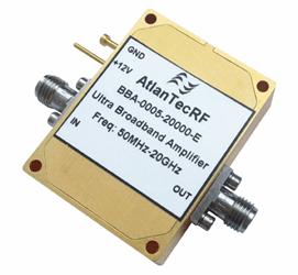 50 MHz – 20 GHz Ultra-Broadband High-Performance Amplifier: Model BBA-0005-20000