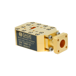 30 – 42 GHz WR-28 Orthomode Transducer With Circular Waveguide Port: SAT-363-25028-C1
