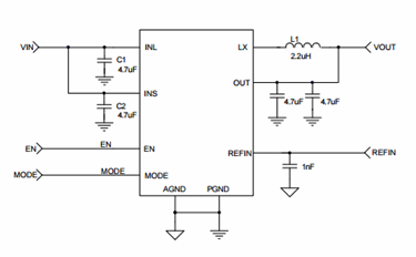 Step-Down regulator With Auto-Bypass LDO: SKY87000-13