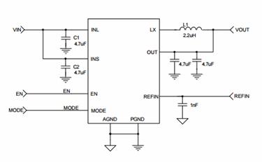 Step-Down regulator With Auto-Bypass LDO: SKY87000-13