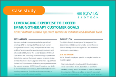 Clinical Leader-Immunotherapy-CaseStudy-October