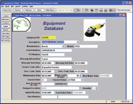Equipment Hawk Inventory Tracking System