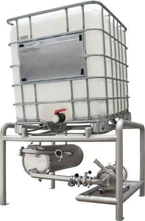 how to clean an ibc tote