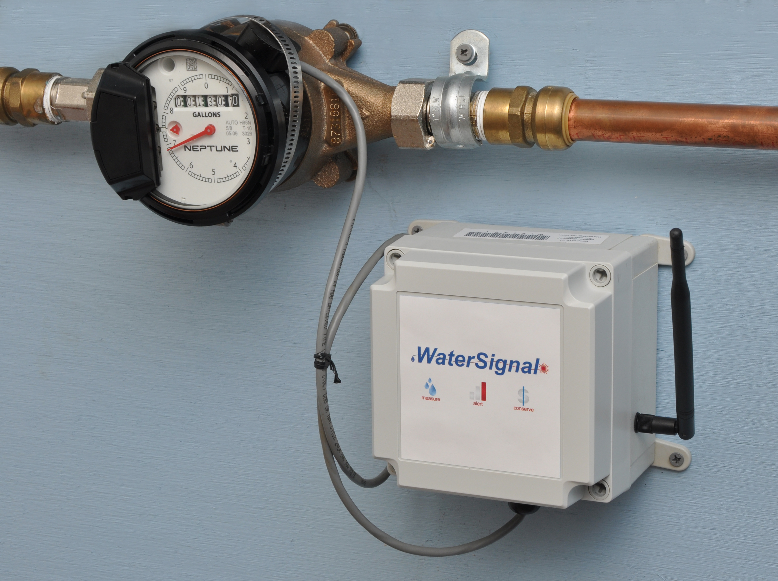 Water Meter Monitor : Watersignal put your building on a h diet in