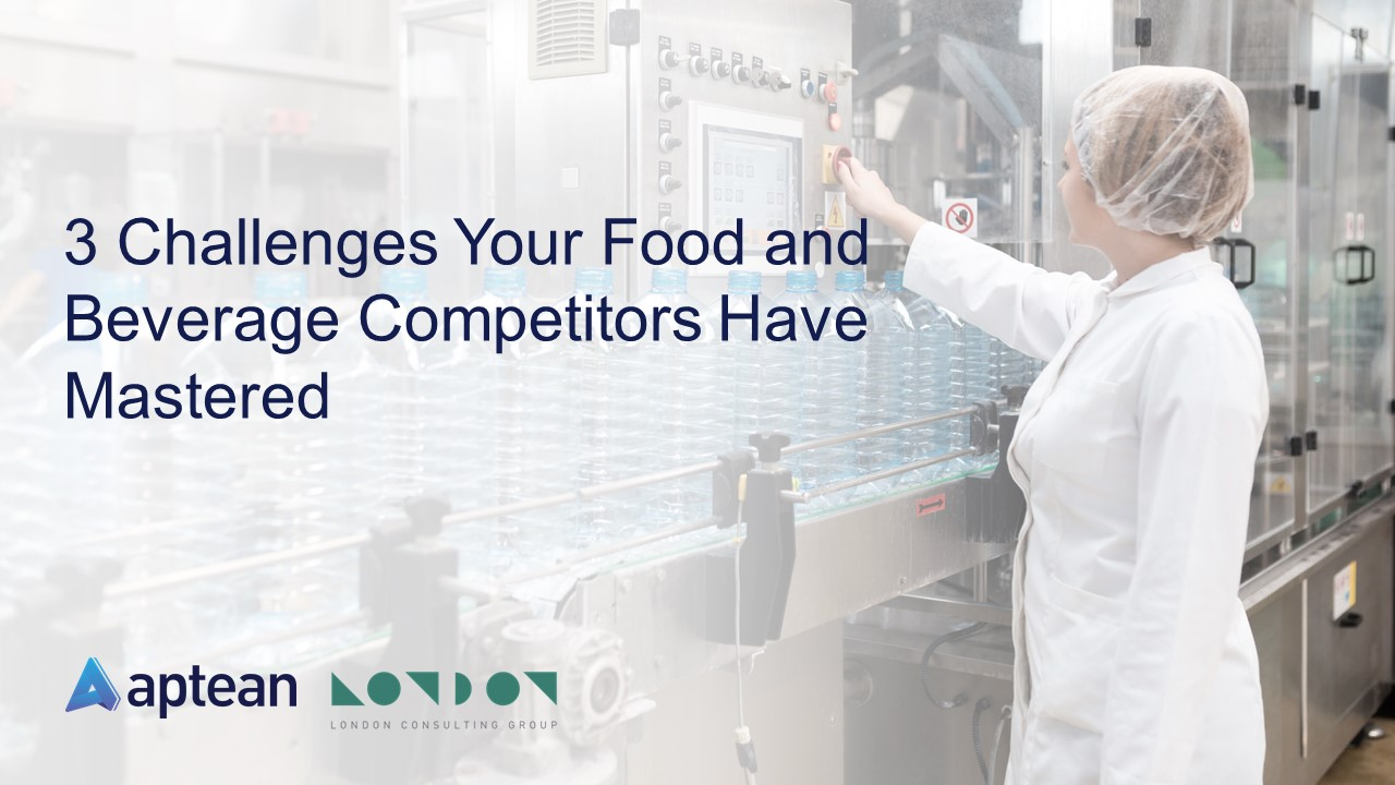 3 Challenges Your Food Beverage Competitors Have Mastered