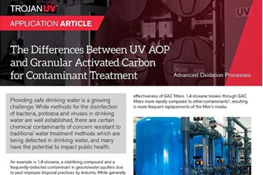 UV AOP vs GAC Article - Water Online thumbnail