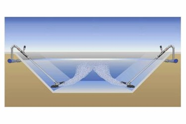Nozzle Basin Manifold System in Lagoon
