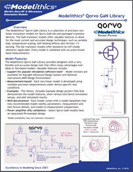 Modelithics® Qorvo GaN Library Brochure