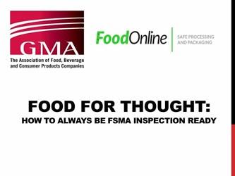 FSMA Inspection Preperation
