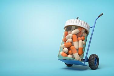 pills shipping logistics
