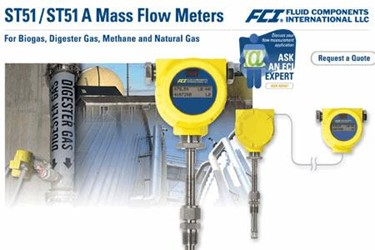 Digester Gas Flow Meter Model ST51 Datasheet