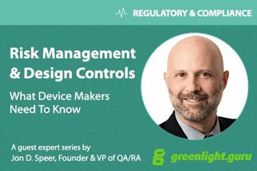Jon Speer, founder & VP of QA/RA, greenlight.guru