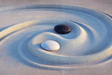 Sand Marbles Ying Yang
