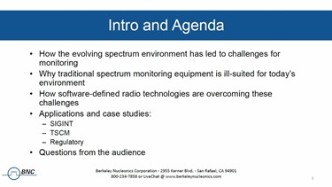 Spectrum Monitoring In The Modern Environment