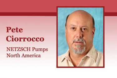 Pete Ciorrocco, Business Field Manager, NETZSCH Pumps North America