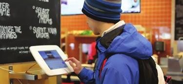Student Ordering On Kiosk