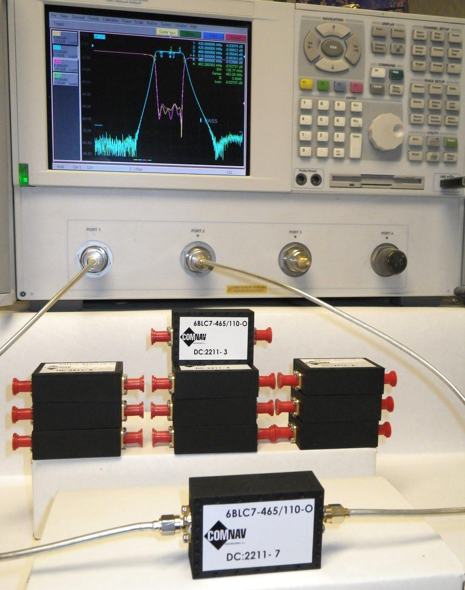 150 Watt High Power UHF Bandpass Filter: P/N 6BLC7-465/110-O