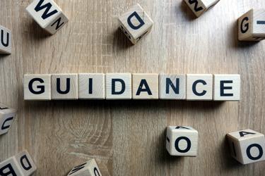 Blocks saying Guidance