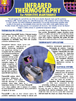 Application Note: Infrared Thermography For Predictive Maintenance