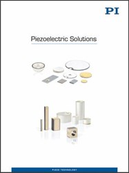 1000's Of Standard Piezo Transducers, Components, And Assemblies In New Piezoelectric Solutions Catalog