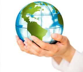 globe in hands 450x300