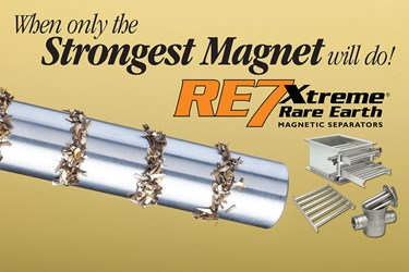 New Eriez Xtreme RE7 is 13 to 40 Percent Stronger than Existing Magnets in Head-to-Head Pull Test Comparisons