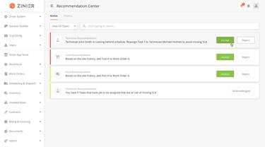 RecommendationCenter_Home_Demo