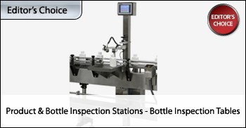Product And Bottle Inspection Stations: Bottle Inspection Tables