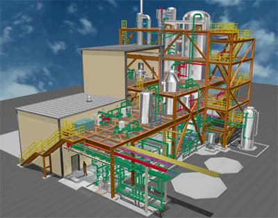 integrating 3d structural analysis and piping design drastically reduces man hours on design of chemical plant