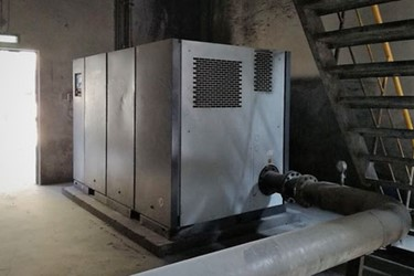 Atlas Copco ZS 160 screw blower at Union Cements Factory