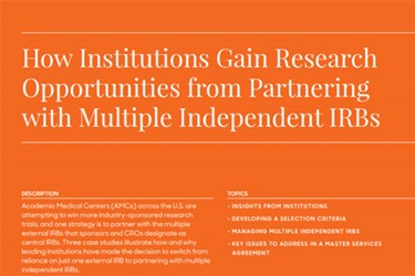 How Institutions Gain Research Trial Opportunities