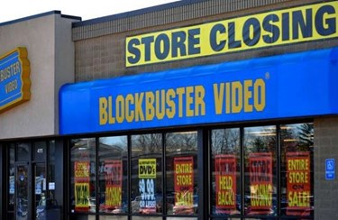 Closing Blockbuster Store