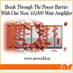 10000 Watt CW, 80 - 1000 MHz Solid-State Amplifier: Model 10000W1000A