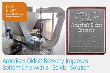 """America's Oldest Brewery Improves Bottom Line With A """"Solids"""" Solution"""