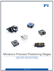 Miniature Precision Positioning Stages Catalog