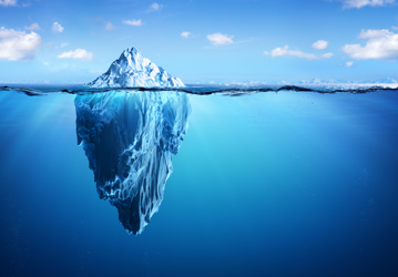 Iceberg Below and Above Water