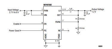3.5 A Constant On-Time, Step-Down DC-DC Converter: SKY87202