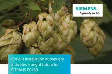 Coriolis Installation At Brewery Indicates Bright Future For SITRANS FC430