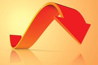 Curved Arrow Orange color