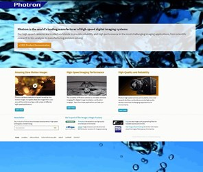Photron Launches New Website Featuring Ultra-High-Speed Imaging